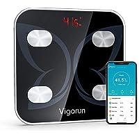 Vigorun Bilancia Pesapersone Digitale, Bilancia Bluetooth Impedenziometrica Analizzatore Bilancia Intelligente con 18…
