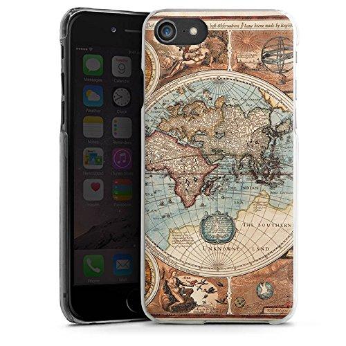 Apple iPhone 6 Hülle Case Handyhülle Vintage Weltkarte Karte Map Hard Case transparent