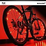 Bodyguard Bike Wheel Lights–con apertura e chiusura automatica–ultra luminoso 20LED bicicletta razze, colorata bicicletta pneumatici accessori (confezione da 1)–impermeabile, Red
