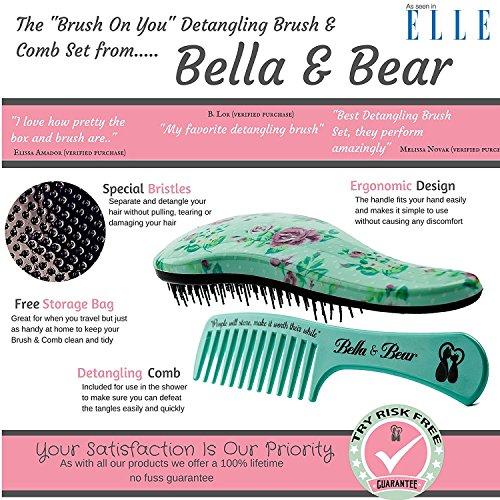 set spazzola by bella bear la migliore spazzola e pettine anti nodi per capelli bagnati o asciutti ottima per adulti e bambini niente pi nodi per