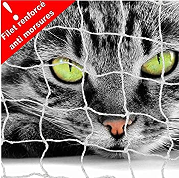 FILET DE PROTECTION BALCON POUR CHAT 3 X 2 M-MAILLE RENFORCÉE ANTI MORSURES