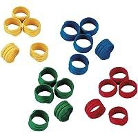 KERBL 72317 - Bagues Plastique - Multicolore - 20 mm - Lot de 100