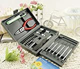 #9: Supermall Mini Hobby 25 in 1 Multi Repair Screwdriver Tool Kit for Cell Phone Drone Laptop Tablet Computer Desktop MP3 Camera TV and Other Electronic Devices