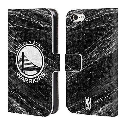Officiel Nba B&W Marbre Golden State Warriors Étui Coque De Livre En Cuir Pour Apple iPhone 5c