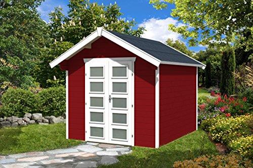 SKAN HOLZ Gartenhaus Hengelo 28 mm, Gartenhäuser, schwedenrot, 300 x 250 x 273 cm