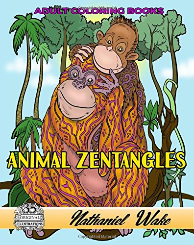 Animal Zentangle Adult Coloring Book: Zentangle Pandas, Polar Bear and Cub, Pets and More!