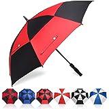 Amazon Brand - Eono Grand Parapluie de Golf, 58/62/68 inch, à Double Voilure et Ouverture Automatique, Protection Contre Le V