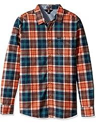Volcom Herren Hemd Hayden Flannel Check Shirt Flanell Hemd Holzfällerhemd Herren Kariert Orange