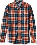 Volcom Herren Hayden Flannel Check Shirt Flanell Holzfällerhemd Kariert Orange Hemd, Papaya, M
