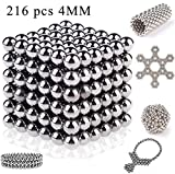 #8: 216 pcs Magnetic Fidget Balls (4mm), Magnetic Sculpture Toy for Intelligence Development and Stress Relief, Puzzle Toy Rollable Magnets Fidget Toys for Anxiety Stress Helps Focusing