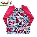 ohbabyka impermeable bebé babero de mangas, babero con - Best Reviews Guide