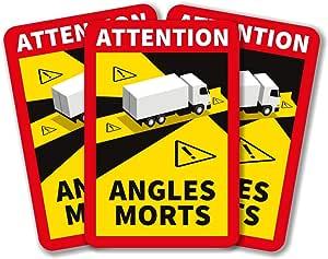 50PCS Camion lepni.me Attention Angles Morts Lotto di Adesivi 1//3//5//6//12//30//50//100 Pezzi per Camion Pesanti o Autobus