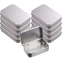 8 Pièces Boîtes à Charnières Vides Rectangulaires En Métal, Mini boîte en Fer Blanc Portable, Boîte Vide Métallique…