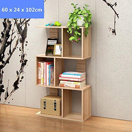 Blueidea® Scaffale Libreria Tre-Strati Mensola Giallo Scarpe di Legno Mensola Scaffale Log Stile Combinazione DIY per Bambini Studenti, Modo Decorazione per Casa