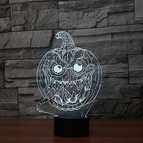 ZY&ZQ Nachtlicht Ambiente Licht Halloween Kürbis berühren 3D Bunte Nacht Licht kreative Energie sparen Gradient Nacht Licht
