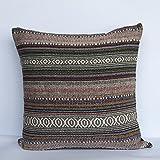 Gris Home - Funda cojín sin relleno jaipur tapizado 45x45 cm, rayas