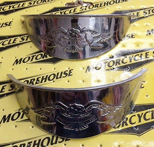 Motorcycle Storehouse Live to Ride Chrom Lampenschirm Visiere (Paar) Zusatzscheinwerfer - 4.5