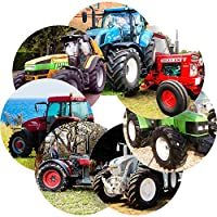 Graphic Flavour Awesome Tractors Reward Sticker Labels, Children, Parents, Teachers