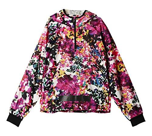 Outdoor-half Zip Pullover (adidas Damen Pullover Allover Print Windbreaker, Shock Pink/Multicolor, S, AJ5933)