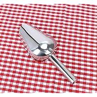 QILENE pala de acero inoxidable para comida de caramelos (plata, 19 cm)