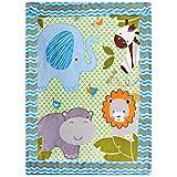 Delindo Lifestyle® Krabbeldecke ZOOTIERE - flauschig weiche Spieldecke - Babydecke 110x140 cm - für Mädchen und Jungen