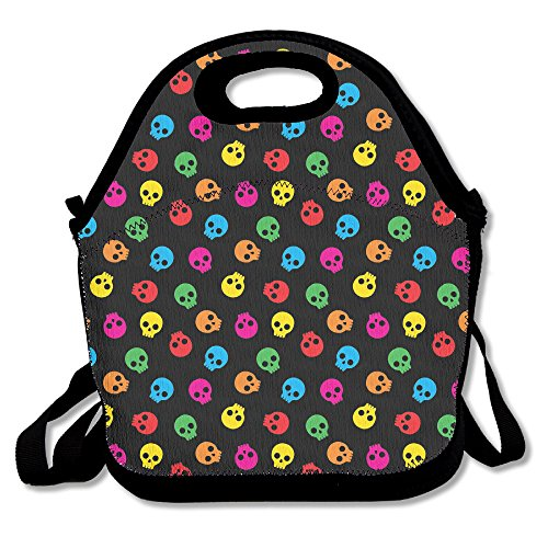 Colorful azúcar calavera bolsa almuerzo bolsa bolso