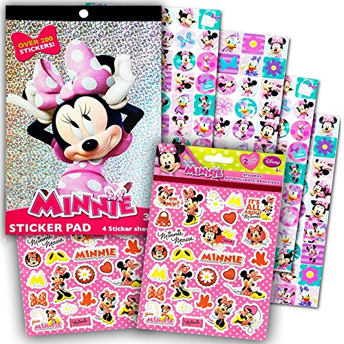 Bowtique Sticker Pad Over 200 Stickers by Disney (Bowtique Minnie S)