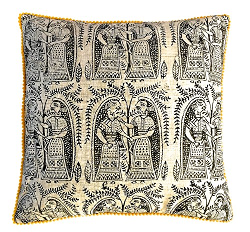 the-indian-promenade-16-x-16-inch-khaadi-cotton-madhubani-cushion-cover-black