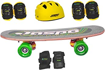 "Jaspo Eagle Eye Pro Junior Skateboard Combo (18*5"" ) (Skateboard+hemet+elbow+knee+wrist) (for age group upto 6 years)"