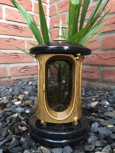lantern-for-headstone-graveside-lantern-black-gold-granite-memorial-candle-light-granite-cemetery-la