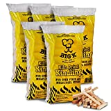 5 Bag of QUALITY KILN DRIED Kindling Wood Fire Starting Logs Open Fires Stoves BBQ Ovens - Comes with THE LOG HUT® White Woven Sack, ideal to store wood, logs, kindling etc.