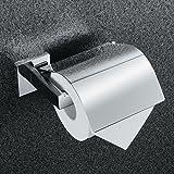 KES Toilettenpapierhalter mit Deckel aus rostfreiem Edelstahl zur Wandmontage,Poliert, A2571