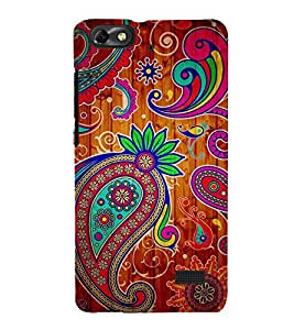 Fuson Designer Back Case Cover for Huawei Honor 4C :: Huawei G Play Mini (Temple design pink Flowers Flowers flower Buds Green Flowers)