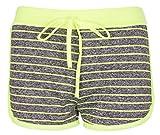 Noroze Mädchen Linie Flecken Hot Pants Activewear Shorts Kurze Hose (9-10 Jahre, Limette)