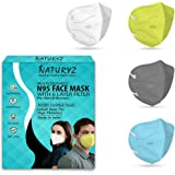 Naturyz N95 NIOSH & ISO Certified Non- Woven Reusable & Washable Face Mask With 6 Layers Protection   Adjustable Ear Loops &