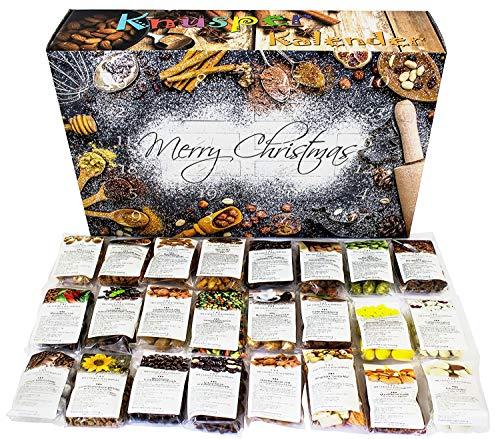 (C&T Knusperkalender 2018 - Adventskalender - 24 leckere Knabbereien für den Advent mit 24 Mischungen aus Mandeln, Cranberries, Erdnüssen, und anderen Snacks)