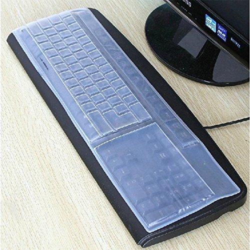Queta Schutzhülle für Tastatur, universal, Silikon, wasserdicht, transparent, für Laptops und Notebooks