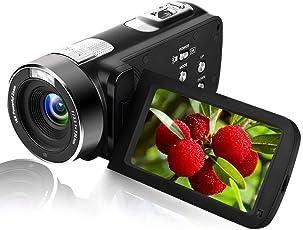 "Camcorder Videokamera mit IR-Nachtsicht 24,0 MP Camcorder HD 3""LCD-Bildschirm 18X Digitalzoom Portable Mini Handheld Camcorder Full HD"