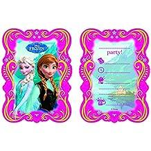 Party2U - 380107 - Invitations Reine des Neiges - Pack De 6