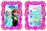 Disney 82504P - Frozen Invitation Cards, mehrfarbig