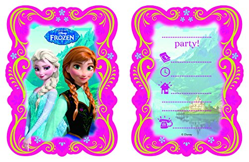 Spiel Frozen Disney Party (Disney 82504P - Frozen Invitation Cards,)