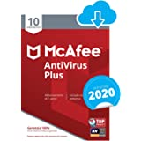 McAfee AntiVirus Plus 2020 | 10 Dispositivi | 1 Anno | PC/Mac/Smartphone/Tablet | Codice d'attivazio...