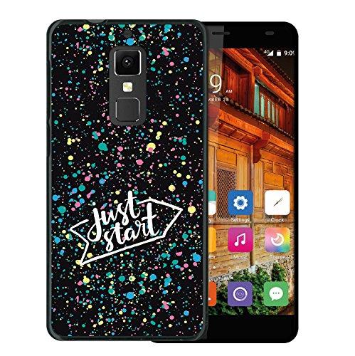 WoowCase Elephone S3 Hülle, Handyhülle Silikon für [ Elephone S3 ] Just Start Handytasche Handy Cover Case Schutzhülle Flexible TPU - Schwarz