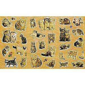 RAYHER 7853000–3D-pop-up-stickers, chats, sB motifs de 30 porte-carte