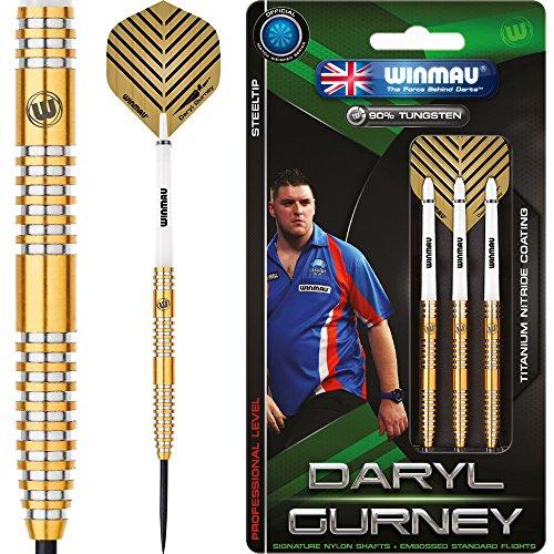 Winmau Daryl Gurney Darts–superchin–Titan Nitrid–Gold 23g–inkl. Darts Ecke Checkout-Karte