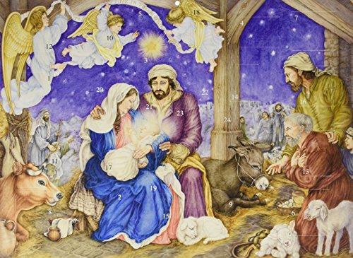 Calendrier de l'Avent Le petit Jésus est né