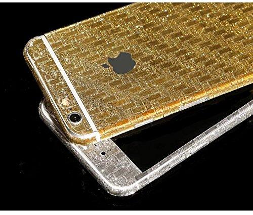 FAS1Neue Version Meteor Dusche Kristall Diamant Sparkling Body Bling Glitzer Aufkleber Skin Film Case für Apple iPhone 6/6S 11,9cm, schwarz, Horizontal Stripe Style gold