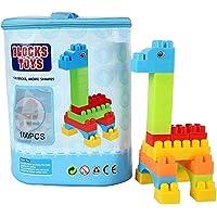 Metro Toy's & Gift Plastic Mega Blocks Building Bag - 100pcs for 3+ Age