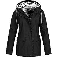 Waterproof Jackets Women Rain Solid Outdoor Plus Hooded Raincoat Windproof Coat