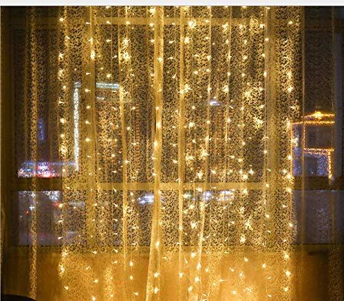 Wasserfall Fließendes Wasser LED Laterne Eislaterne Licht 8 Modus Blinklicht Vorhang Lichterkette Wasserdicht Festliche Verschönerung Dekoration 3m * 3m B (Wasserfall Weihnachten Lichter)